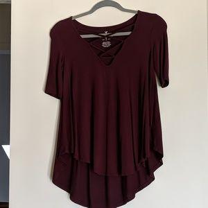 AE cross-front shirt